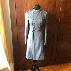 Grey wool coat !